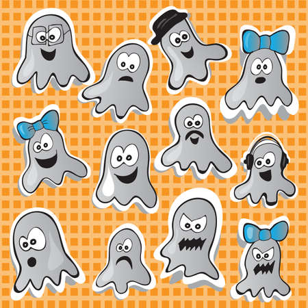 Halloween set - vector illustration with funny pictures Vector