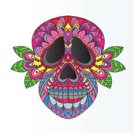 morte: Dia do crânio inoperante do açúcar Ilustração