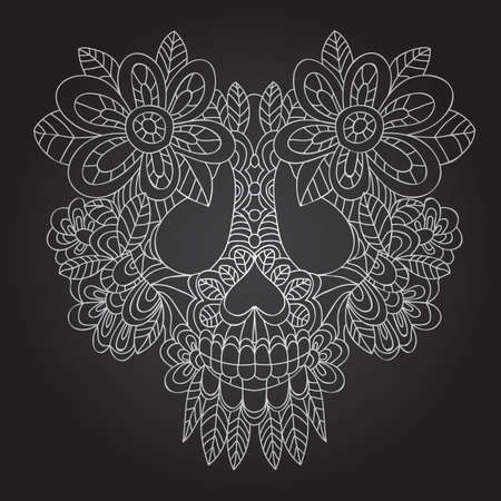Day of the Dead  Sugar Skull -  Vector  Vector