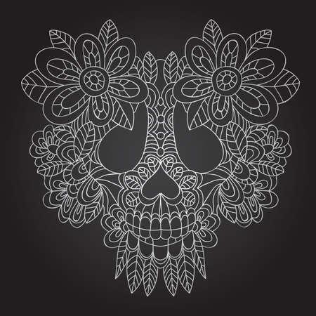 Day of the Dead  Sugar Skull -  Vector  Vector