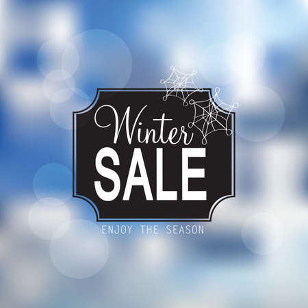 shere: winter sale poster with glittery lights  Illustration