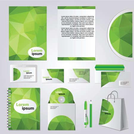 Corporate identity design vector - Stationery set design - green Vector