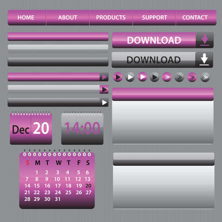 hi quality purple elements for web designing and blogs Vector