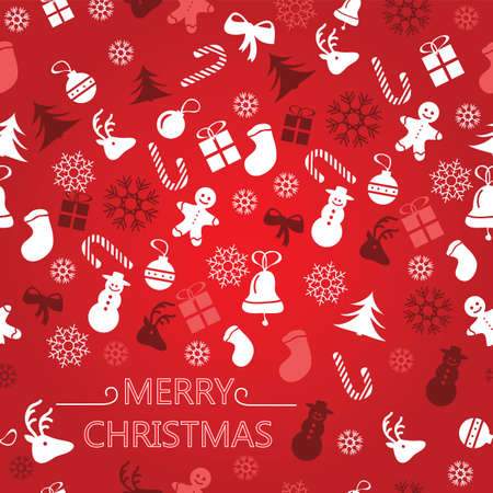 Christmas background, seamless tiling, great choice for wrapping paper pattern - vector  イラスト・ベクター素材