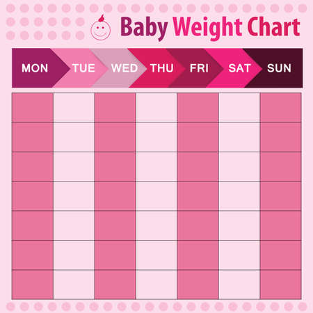height chart: baby weight chart for mom - vector illustration