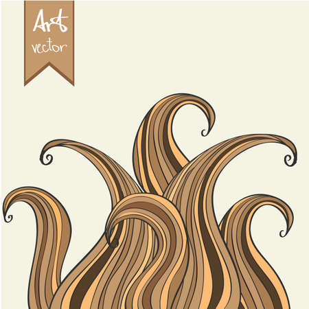 Abstract vector element. Hand drawn illustration doodle style Vector
