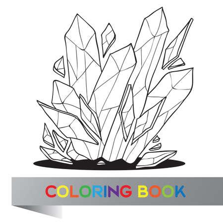35403480 - Libro para colorear con imágenes de cristal - ilustración  vectorial 938c674ac73