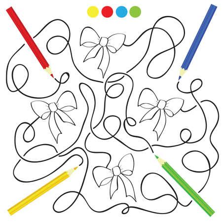 Ilustración Del Vector Del Juego De Mesa Para Niños Libro