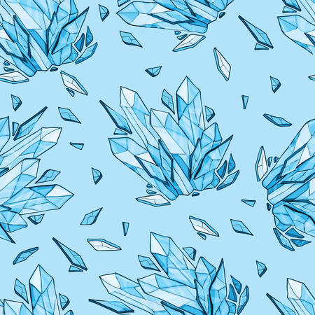 Vector seamless background of crystal or diamonds Vector