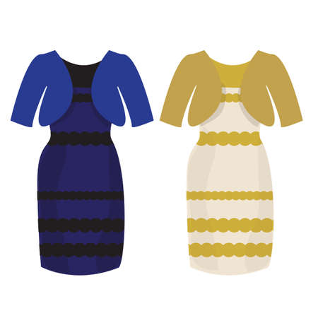 posted: Popular puzzle what color of dress white and gold or black and blue Illustration
