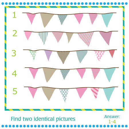 identical: Find two identical pictures - vector Flags