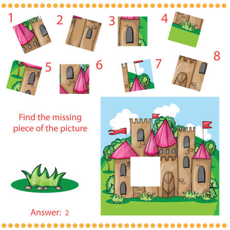 missing piece: Find missing piece - Puzzle game for Children with cartoon castle