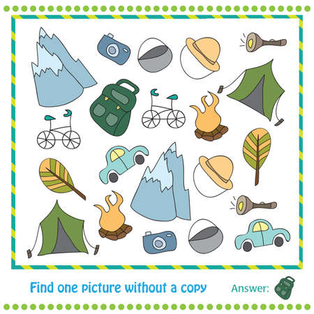 once person: Vector Illustration - Educational Game for Children - find picture withuot copy