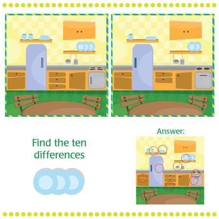 spot the difference: Find differences between the two images - Kitchen