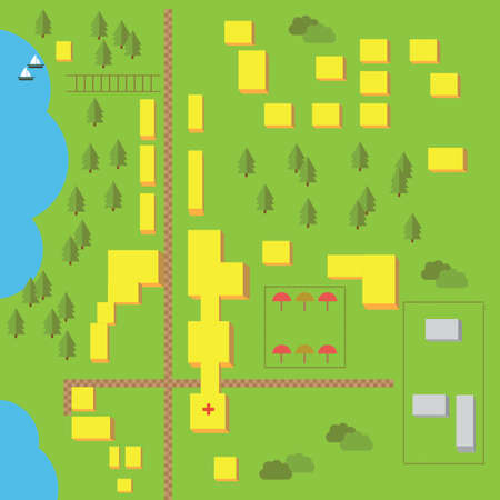 squire: Vector elements for easy creating own maps Illustration