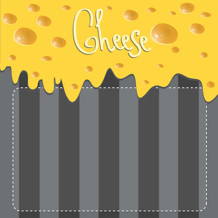 melt: Vector Cheese brochure on dark background made of stripes