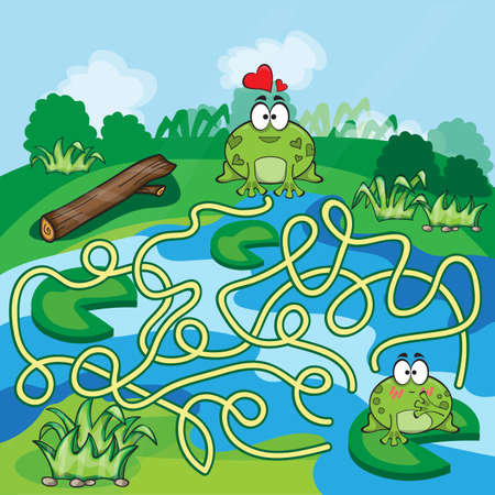 Frogs Maze Game - help the Frog to find his way