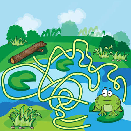 which one: Frogs Maze Game - help the Frog to find his way