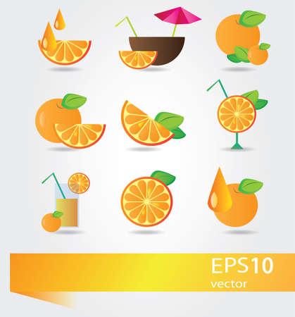 enjoy: Orange  Fruit cocktail and motivate picture - enjoy your summer set