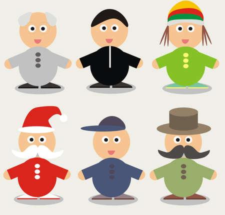 hamlet: Funny cartoon character - illustration Set Illustration