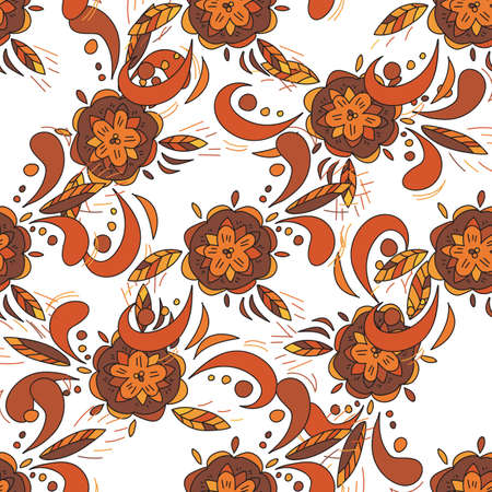 traditional pattern: seamless pattern in traditional russian khokhloma style