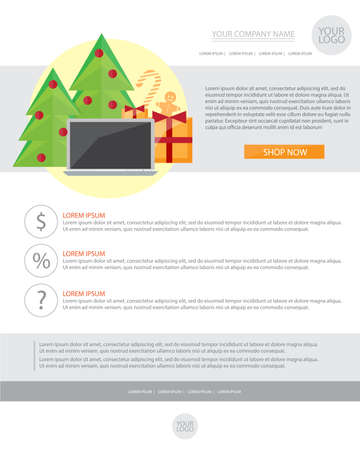 Happy new year holiday greeting email template in flat style happy new year holiday greeting email template in flat style vector illustration stock vector m4hsunfo