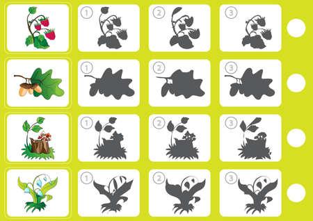 Match shadow - Worksheet for education Illustration