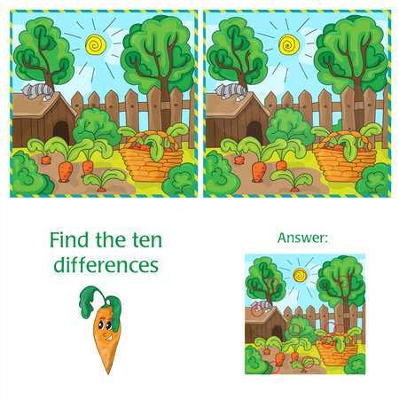 Find differences between the two images carrots in the garden