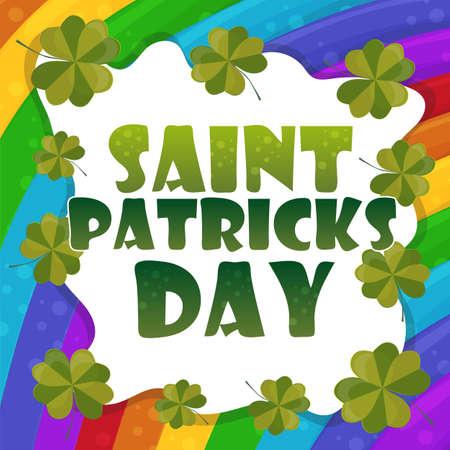 Saint Patricks Day Card Design - rainbow Background