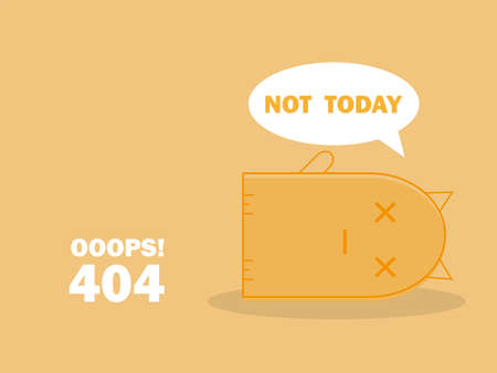 404 error page with cute cat sleeping and message Oops Page Not Found.