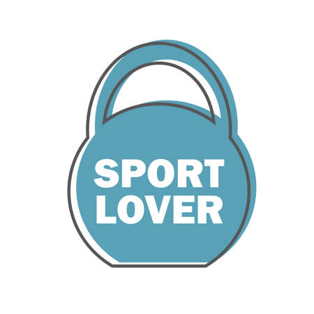 Sport lover - Gym Workout Motivation Quote Stamp Vector Design Element