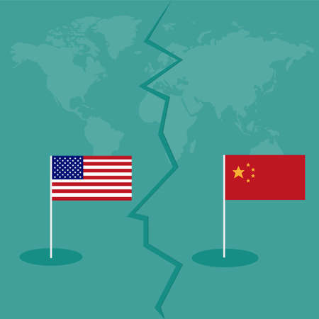 trade war America China tariff business global exchange international concept