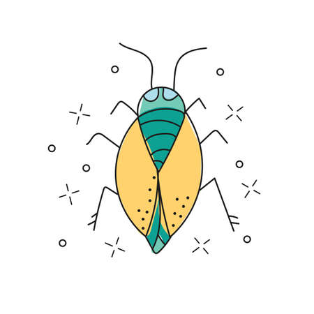 hand drawn doodle icon. Insect vector sketch illustration for print, web, mobile and infographics isolated on white background. Illustration