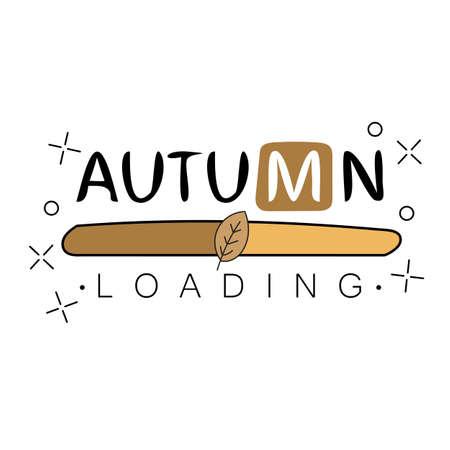 Autumn loading. Autumn begins creative concept. Progress bar design. Vector illustration.