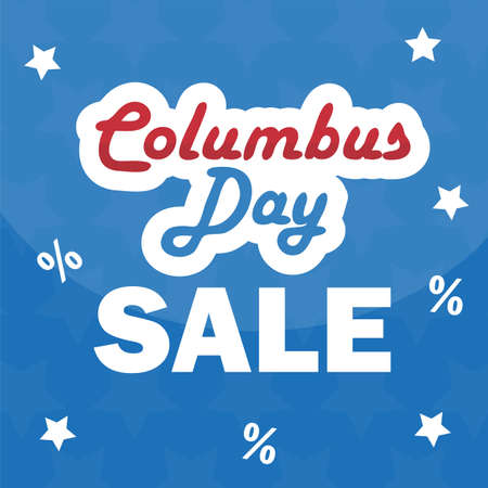 Columbus Day sale promotion, advertising, poster, banner template. Columbus day wallpaper. Voucher discount