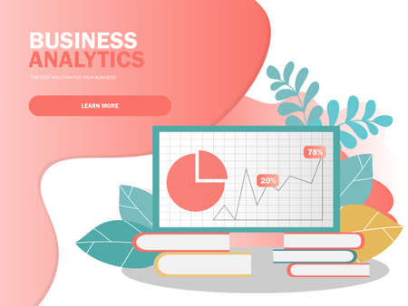 Data analysis concept. Can use for web banner, infographics. Creative vector illustration for banner, poster, website in modern colors Banque d'images - 123256789