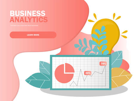Data analysis concept. Can use for web banner, infographics. Creative vector illustration for banner, poster, website in modern colors