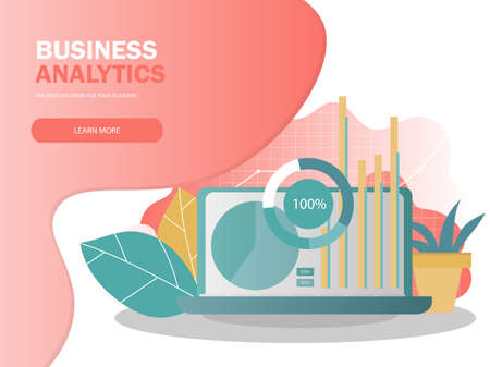 Data analysis concept. Can use for web banner, infographics. Creative vector illustration for banner, poster, website in modern colors Banque d'images - 123256793