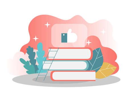 Knowledge and learning concept. Vector illustration. Modern flat design concept of web page design for website and mobile website. Vector illustration Vektorgrafik