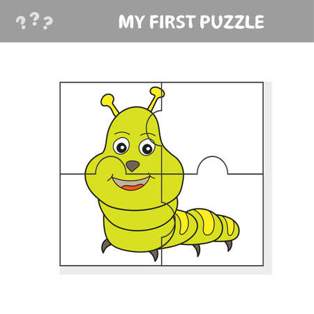 Use puzzle and restore the picture. Paper game for kids. The easy level. My first puzzle