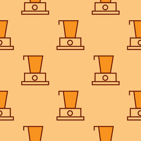 Blender line icon - pattern repeat seamless in orange color for any design. Vector geometric illustration