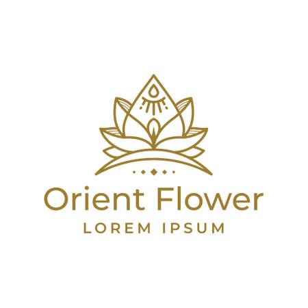 Decorative Orient Flower Logo Template Logo