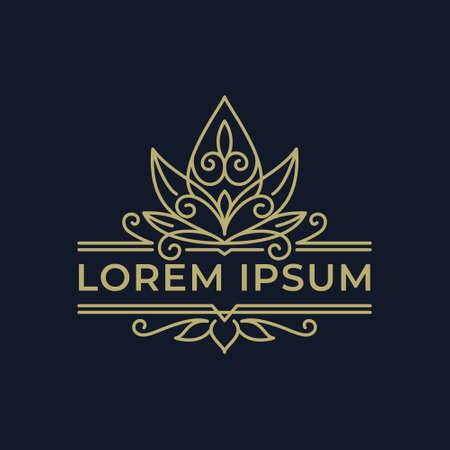 Decorative Orient Flower Logo Template