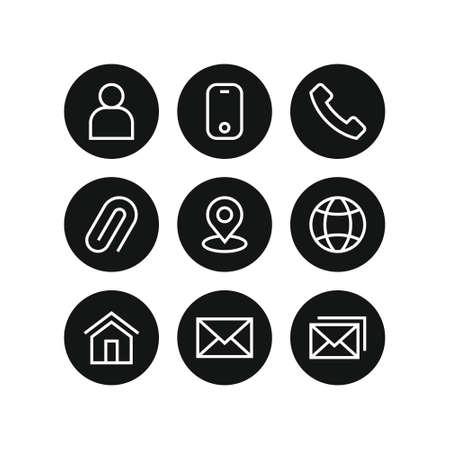 contact us icons vector set Ilustracje wektorowe
