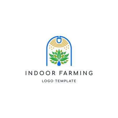 INDOOR FARMING OR URBAN FARMING LOGO TEMPLATE