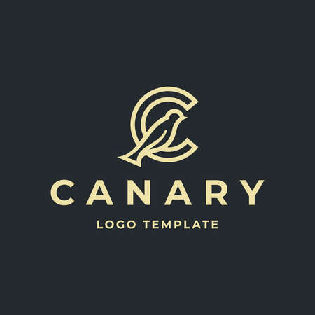 CANARY BIRD WITH C LETTER LOGO TEMPLATE Logo