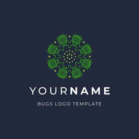Minimalist Luxury Bug Pollinate logo template
