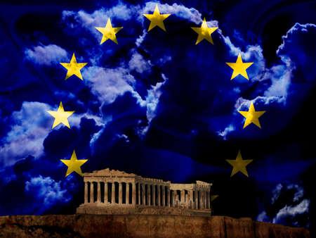 ber: D?stere Europa Wolken ?ber Griechenland