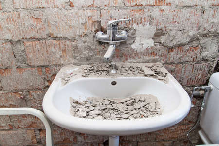 worksite bathroom and washbasin photo