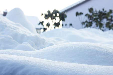 worth: snowshill in winter landscape